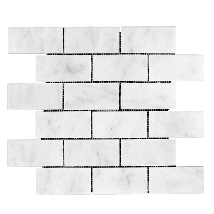 2x4 Bianco Perla Marble Mosaic - Polished  - DW TILE & STONE - Atlanta Marble Natural Stone Wholesale Stone Supplier