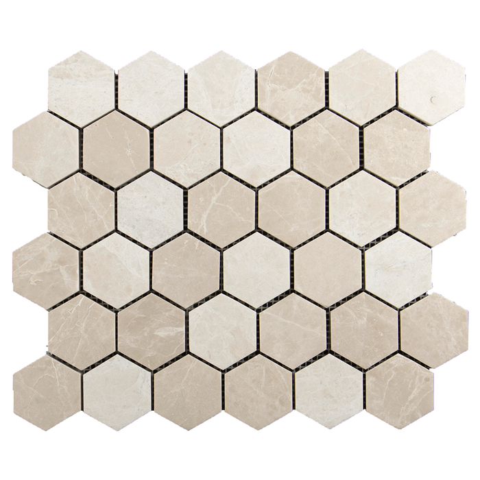 "2"" Crema Nova Hexagon- Honed Honed / 2"" x 2"" - DW TILE & STONE - Atlanta Marble Natural Stone Wholesale Stone Supplier"