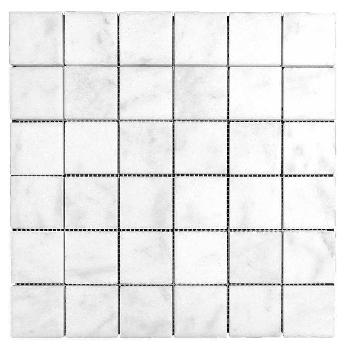2x2 Bianco Perla Marble Mosaic - Polished  - DW TILE & STONE - Atlanta Marble Natural Stone Wholesale Stone Supplier