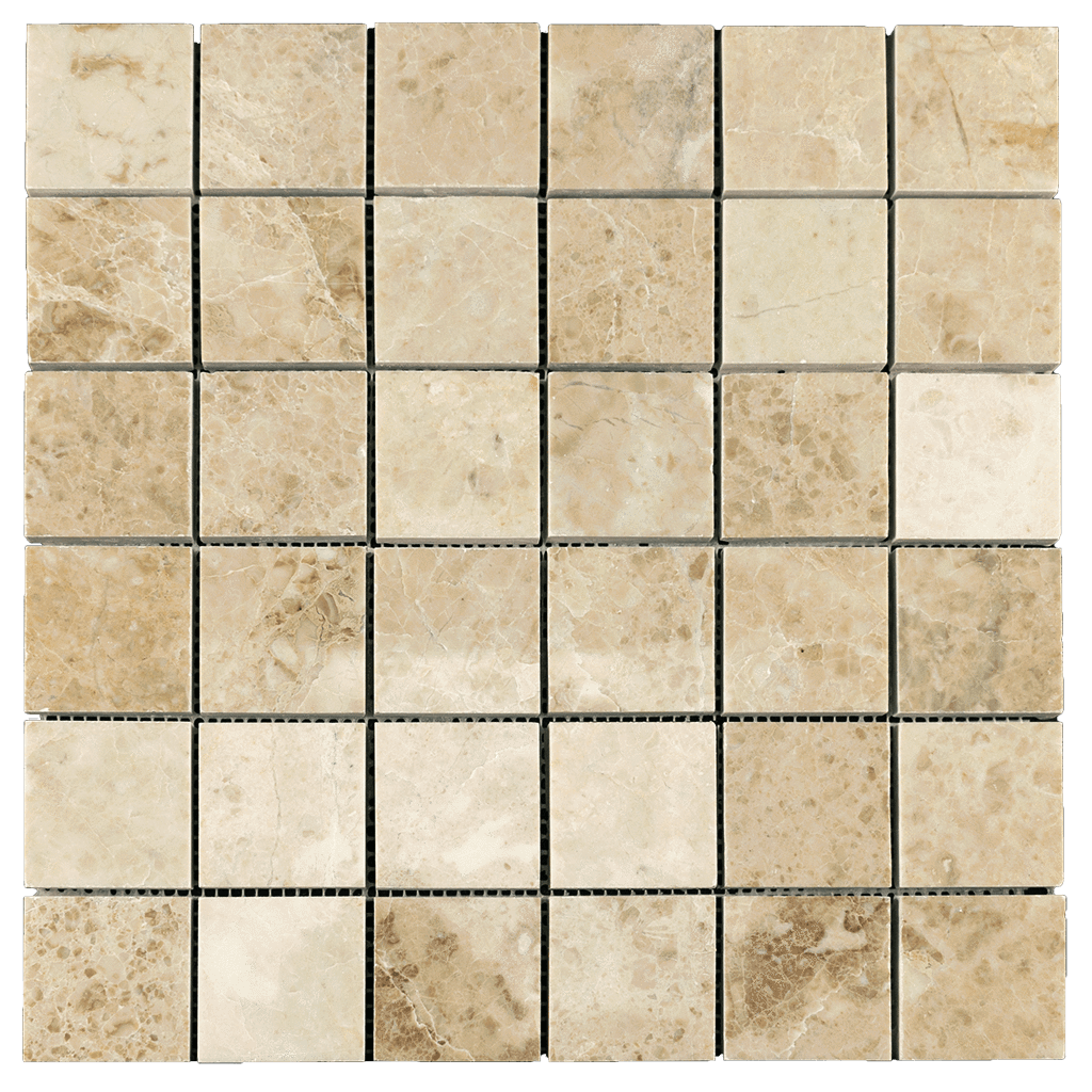 "2x2 Cappuccino Marble Mosaic Tile - Polished Polished / 2"" x 2"" - DW TILE & STONE - Atlanta Marble Natural Stone Wholesale Stone Supplier"
