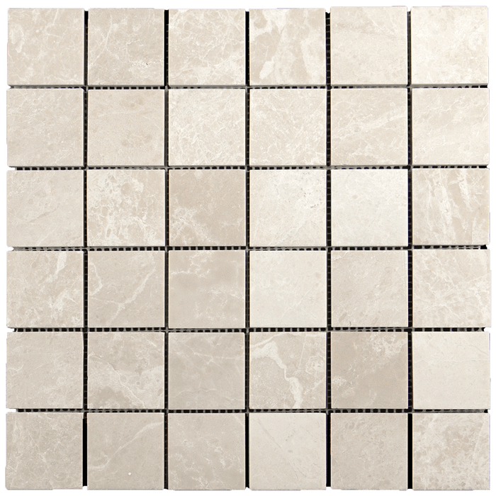 "2x2 Crema Nova Marble Mosaic Tile - Polished Polished / 2"" x 2"" - DW TILE & STONE - Atlanta Marble Natural Stone Wholesale Stone Supplier"