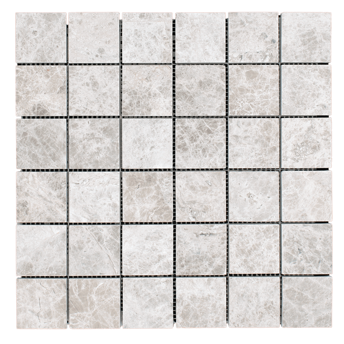 "2x2 Silver Shadow Marble Mosaic Tile - Honed Honed / 2"" x 2"" - DW TILE & STONE - Atlanta Marble Natural Stone Wholesale Stone Supplier"
