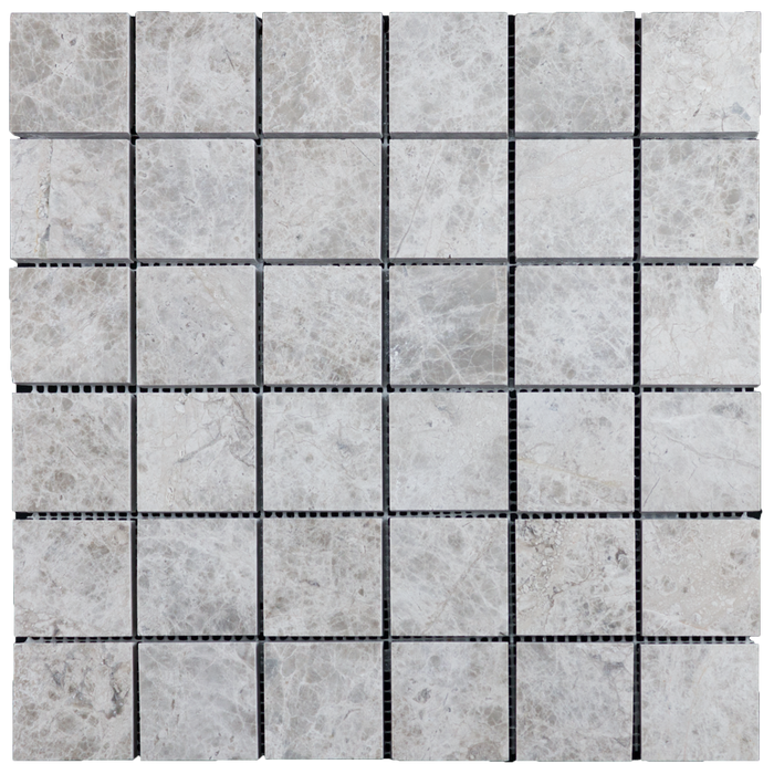"2x2 Silver Shadow Marble Mosaic Tile - Polished Polished / 2"" x 2"" - DW TILE & STONE - Atlanta Marble Natural Stone Wholesale Stone Supplier"