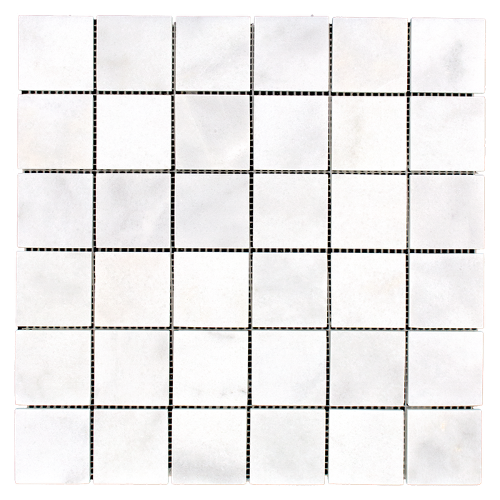 "2x2 Bianco Perla Marble Mosaic - Honed Honed / 2"" x 2"" - DW TILE & STONE - Atlanta Marble Natural Stone Wholesale Stone Supplier"