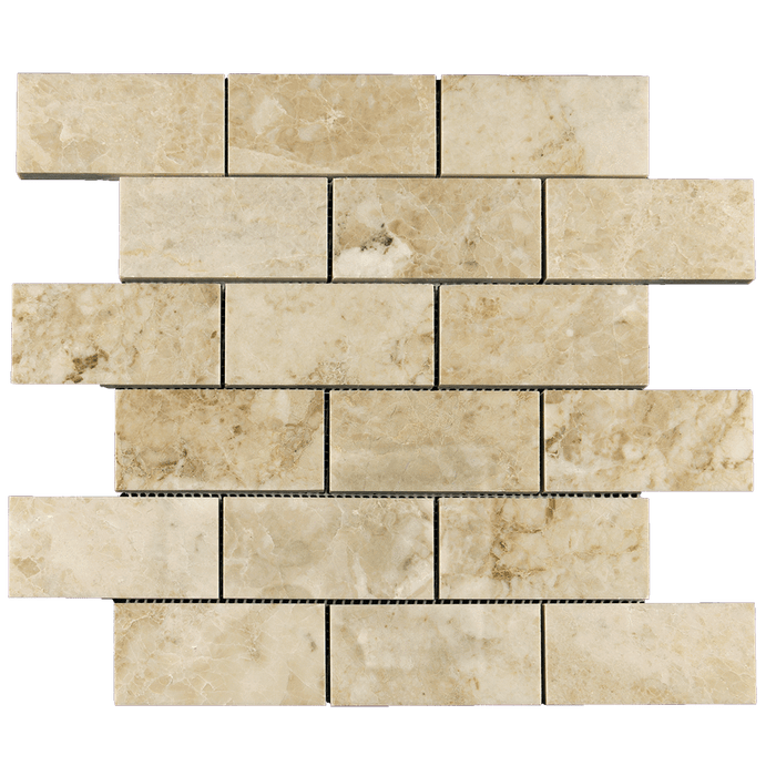 "2x4 Cappuccino Marble Mosaic Tile - Polished Polished / 2"" x 4"" - DW TILE & STONE - Atlanta Marble Natural Stone Wholesale Stone Supplier"
