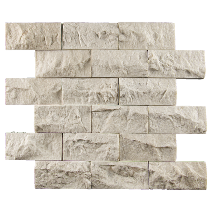 "2x4 Crema Nova Marble Mosaic Tile - Split Face Split Face / 2"" x 4"" - DW TILE & STONE - Atlanta Marble Natural Stone Wholesale Stone Supplier"