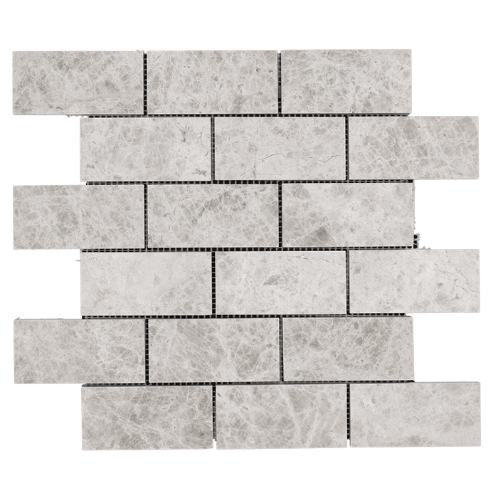 "2x4 Silver Shadow Marble Mosaic Tile - Honed Honed / 2"" x 4"" - DW TILE & STONE - Atlanta Marble Natural Stone Wholesale Stone Supplier"