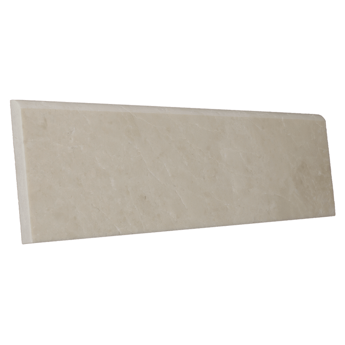 "Crema Nova Marble Bullnose - Polished Polished / 4"" x 12"" - DW TILE & STONE - Atlanta Marble Natural Stone Wholesale Stone Supplier"