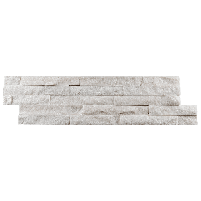 "Large White Quartzite Slate Ledger Stone Split Face / 6"" x 22"" - DW TILE & STONE - Atlanta Marble Natural Stone Wholesale Stone Supplier"