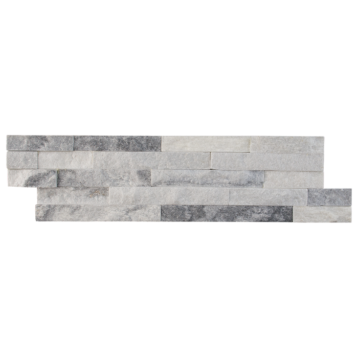 Cloudy Grey Quartzite SplitFace Ledger Stone  - DW TILE & STONE - Atlanta Marble Natural Stone Wholesale Stone Supplier