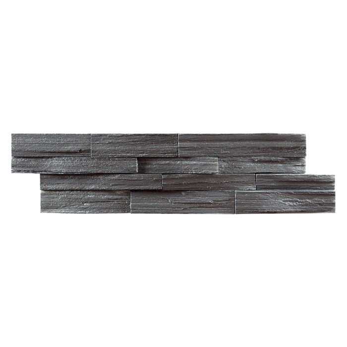"Black Slate Rough Edge Ledger Stone Split Face / 6"" x 22"" - DW TILE & STONE - Atlanta Marble Natural Stone Wholesale Stone Supplier"