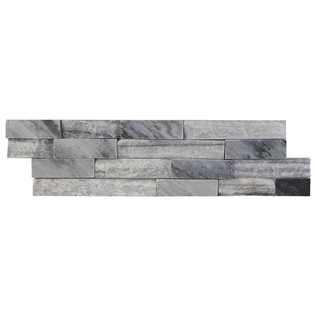Cloudy Grey Quartzite SplitFace & Polished Ledger Stone  - DW TILE & STONE - Atlanta Marble Natural Stone Wholesale Stone Supplier