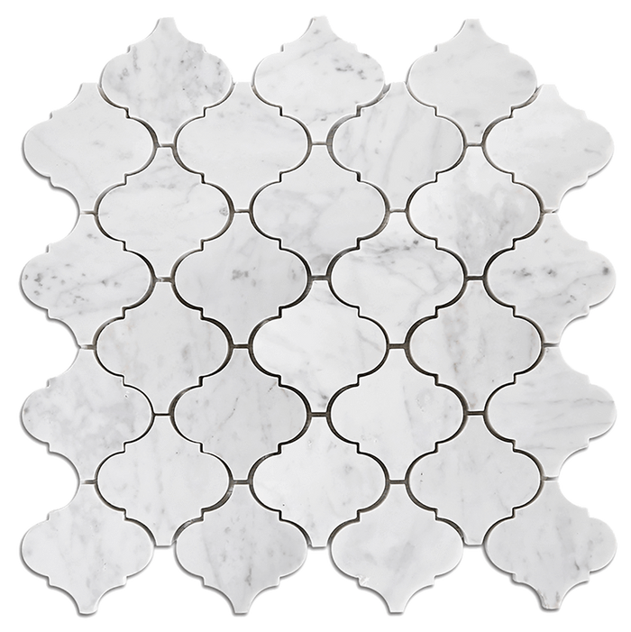 Bianco Gioia Marble Mosaic Tile Arabesque - Polished Polished / Arabesque - DW TILE & STONE - Atlanta Marble Natural Stone Wholesale Stone Supplier