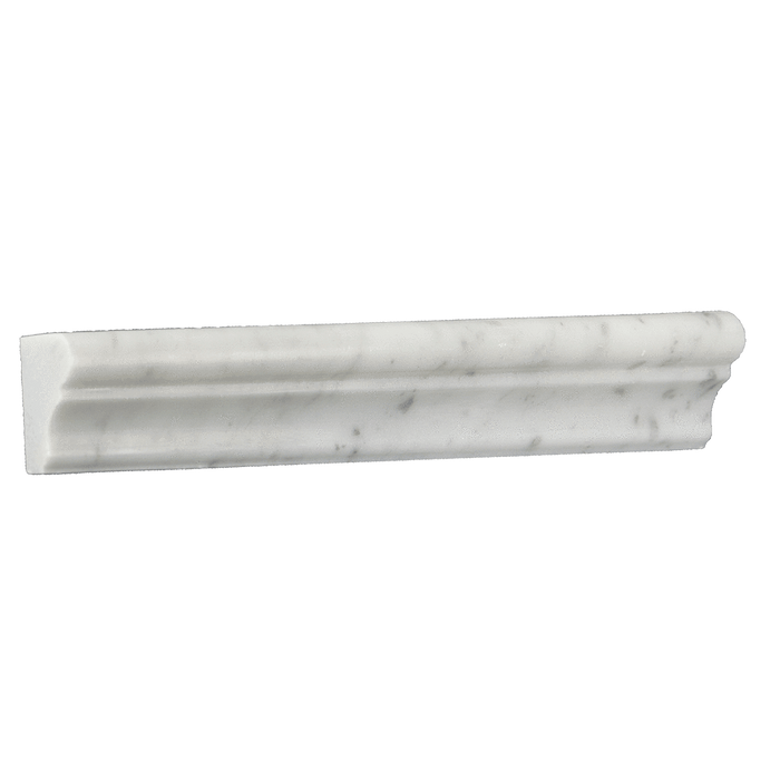 "Bianco Gioia Marble Crown - Honed (2"" x 12"" x 1"") Honed / 1 7/8"" x 12"" x 1"" - DW TILE & STONE - Atlanta Marble Natural Stone Wholesale Stone Supplier"