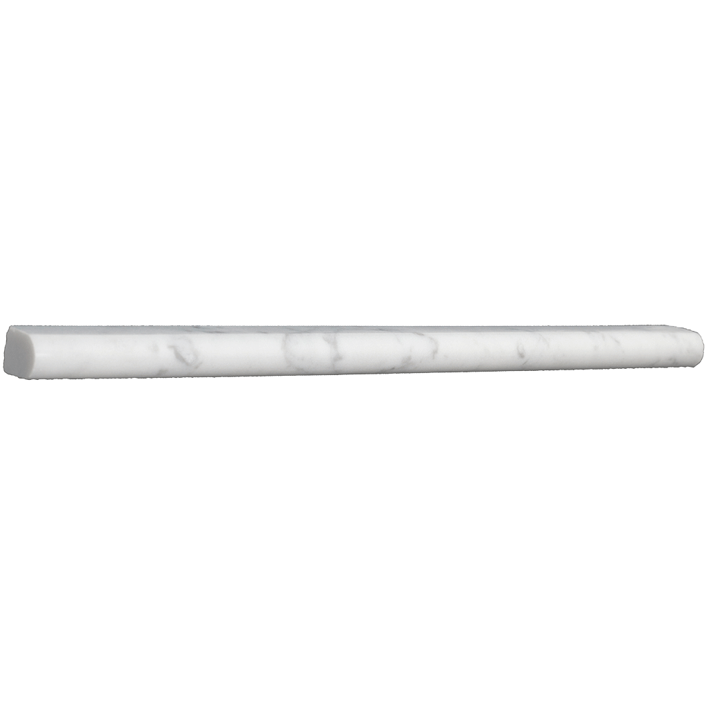 "Bianco Gioia Marble - Pencil Liner - Polished (9/16"" x 12"" x 3/4"") Polished / 9/16"" x 12"" x 3/4"" - DW TILE & STONE - Atlanta Marble Natural Stone Wholesale Stone Supplier"