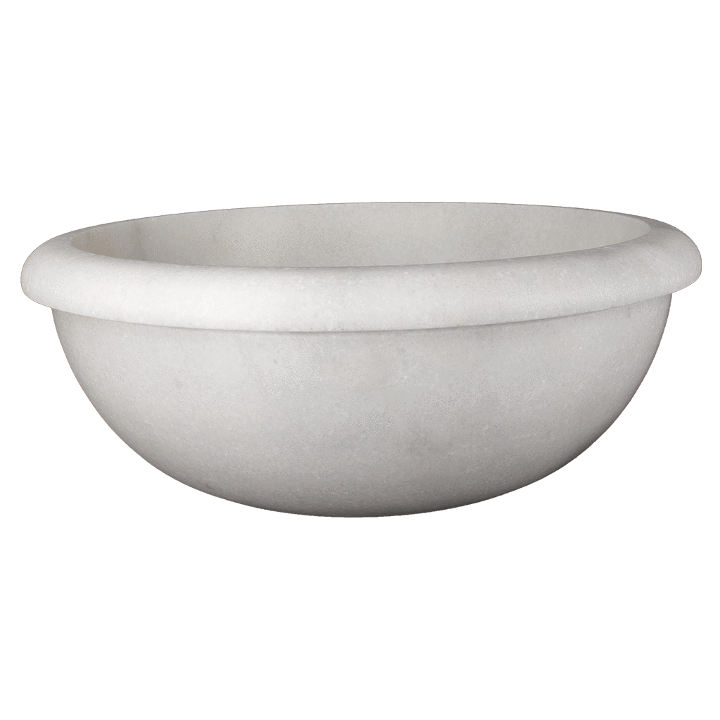"Bianco Perla Marble Sink - Drop In 16"" Honed / 16"" - DW TILE & STONE - Atlanta Marble Natural Stone Wholesale Stone Supplier"