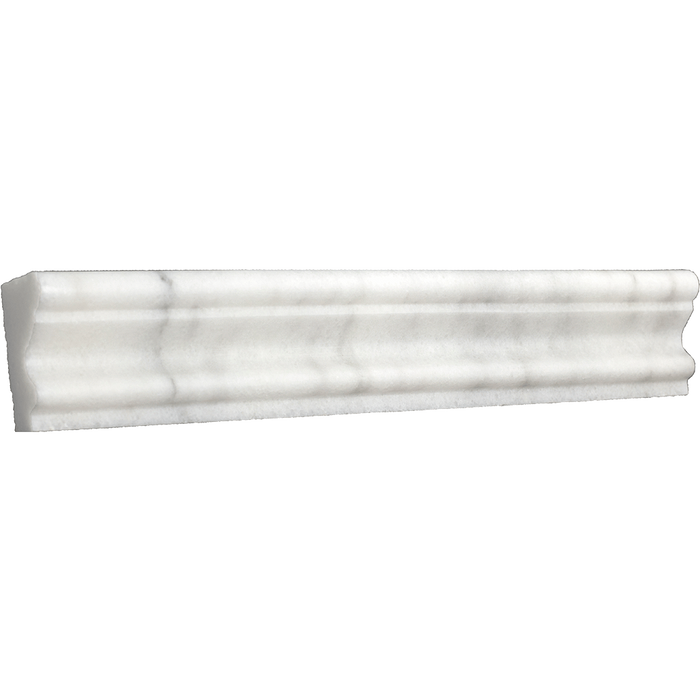"Bianco Perla Marble Crown - Polished (2"" x 12"" x 1"") Polished / 2"" x 12"" x 1"" - DW TILE & STONE - Atlanta Marble Natural Stone Wholesale Stone Supplier"