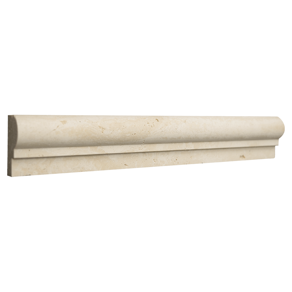 "Ivory Travertine Cornice - Honed (1-7/8"" x 12"" x 1"") Honed / 1 7/8"" x 12"" x 1"" - DW TILE & STONE - Atlanta Marble Natural Stone Wholesale Stone Supplier"