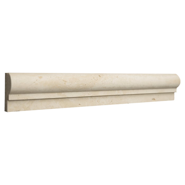 "Ivory Travertine Cornice Tumbled / 1 7/8"" x 12"" x 1"" - DW TILE & STONE - Atlanta Marble Natural Stone Wholesale Stone Supplier"