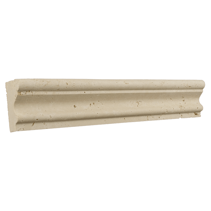 "Ivory Travertine Crown - Honed (2"" x 12"" x 1"") Honed / 2"" x 12"" x 1"" - DW TILE & STONE - Atlanta Marble Natural Stone Wholesale Stone Supplier"