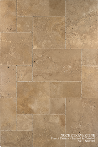 Noche Travertine Floor and Wall Tiles Brushed - Chiseled / French - DW TILE & STONE - Atlanta Marble Natural Stone Wholesale Stone Supplier