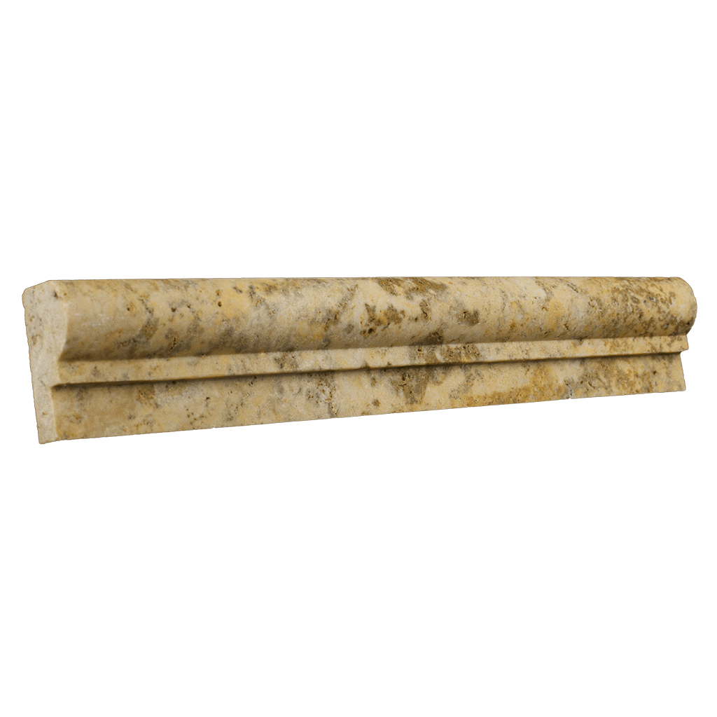 "Scabos Travertine Cornice - Honed (1-7/8"" x 12"" x 1"") Honed / 1 7/8"" x 12"" x 1"" - DW TILE & STONE - Atlanta Marble Natural Stone Wholesale Stone Supplier"