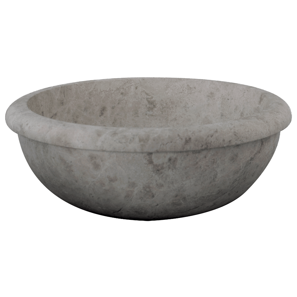 "Silver Shadow Marble Sink Drop In 16"" Honed / 16"" - DW TILE & STONE - Atlanta Marble Natural Stone Wholesale Stone Supplier"