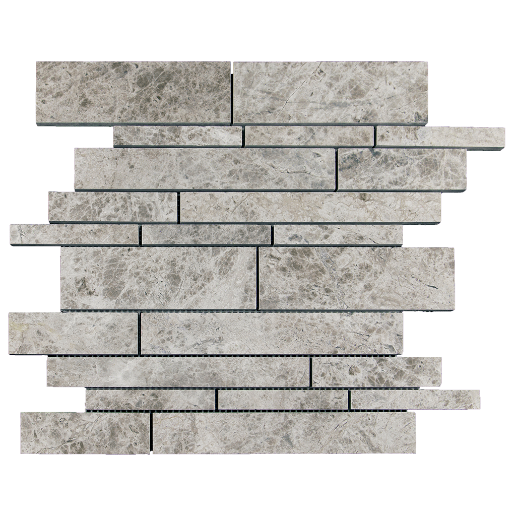 Silver Shadow Marble Mosaic Tile Strips - Polished Polished / Strips - DW TILE & STONE - Atlanta Marble Natural Stone Wholesale Stone Supplier