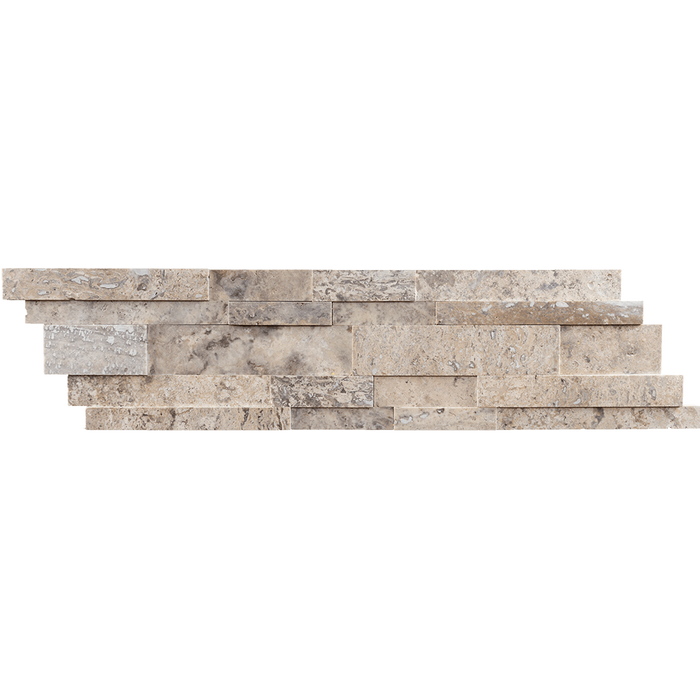 Silver Travertine Mosaic Tile Strips Up and Down Mosaic - Honed Honed / Up Down - DW TILE & STONE - Atlanta Marble Natural Stone Wholesale Stone Supplier