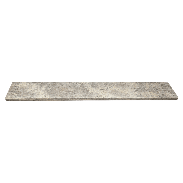 "Silver Travertine Window Sill Honed / 74"" x 6"" x 3/4"" - DW TILE & STONE - Atlanta Marble Natural Stone Wholesale Stone Supplier"