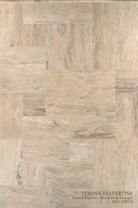 Verona Travertine Floor and Wall Tiles Brushed - Straight / French - DW TILE & STONE - Atlanta Marble Natural Stone Wholesale Stone Supplier