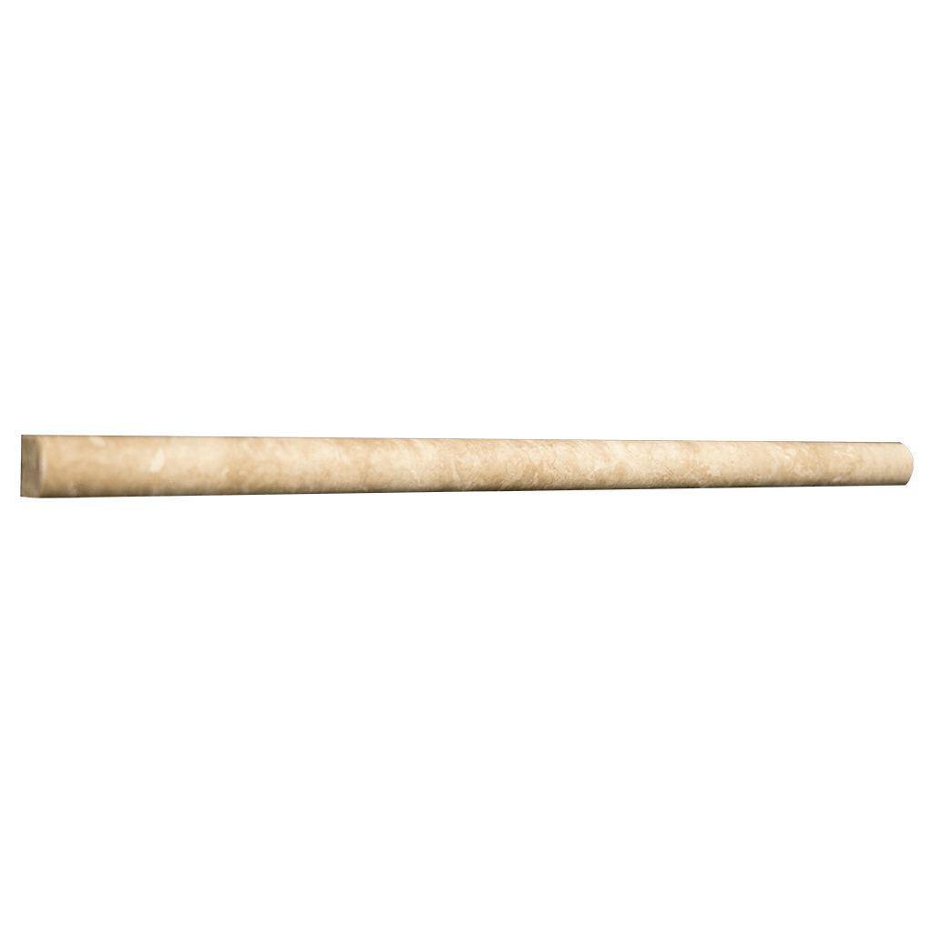 "Walnut Travertine Pencil Liner (9/16"" x 12"" x 3/4"") Honed / 9/16"" x 12"" x 3/4"" - DW TILE & STONE - Atlanta Marble Natural Stone Wholesale Stone Supplier"