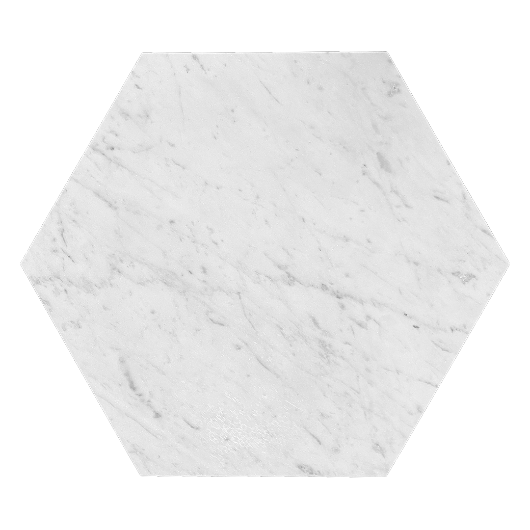 "Bianco Gioia Marble Floor and Wall Tile Honed / 12"" Hexagon - DW TILE & STONE - Atlanta Marble Natural Stone Wholesale Stone Supplier"
