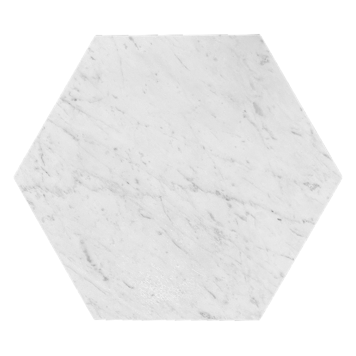 "12"" Bianco Gioia Marble Hexagon - Honed  - DW TILE & STONE - Atlanta Marble Natural Stone Wholesale Stone Supplier"