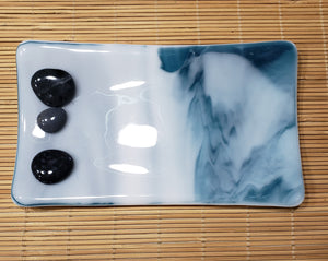 Blue Water & Stones Glass Dishes