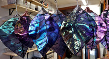 Iridescent Glass Leaf Ornaments