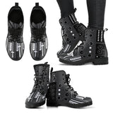 DJ Mixer Leather Boots - Trendy Staples