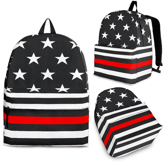 The Thin Red Line Firefighters Backpack - Trendy Staples