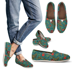 Kayon Series Floral Balinese Batik Women's Casual Canvas Shoes (3 Color Options) - Trendy Staples