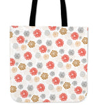 Japanese Hand-Drawn Floral Pattern Tote Bag (3 Variants) - Trendy Staples