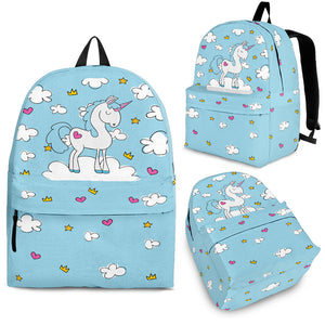 Blue Sky Unicorn Backpack - Trendy Staples