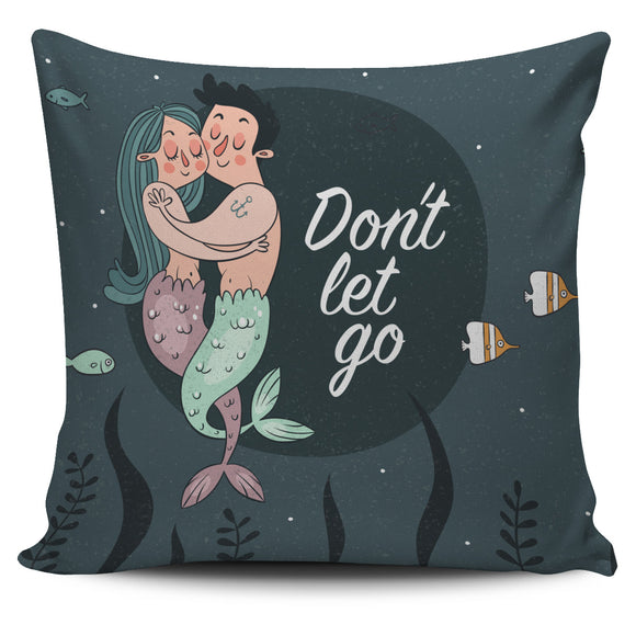 Mermaid Couple Pillow Cover With Quotations - Trendy Staples