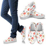 Japanese Hand-Drawn Floral Women's Slip On Shoes (3 Variants) - Trendy Staples