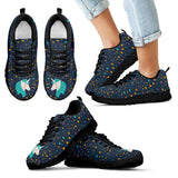 Midnight Blue Starry Night Unicorn Running Shoes - Trendy Staples