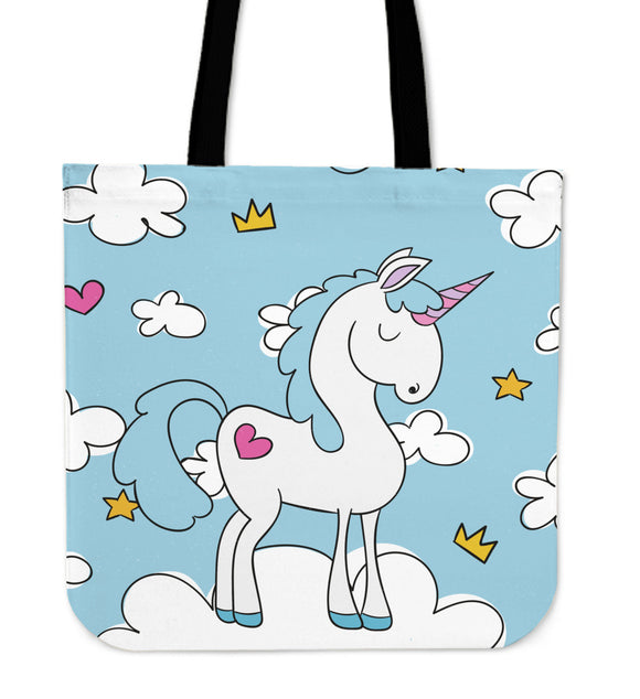 Blue Sky Unicorn Tote Bag - Trendy Staples