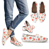 Japanese Hand-Drawn Floral Pattern Women's Casual Canvas Shoes (3 Variants) - Trendy Staples