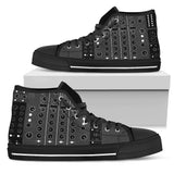 DJ Mixer High Top Canvas Shoes For Men & Women - Trendy Staples