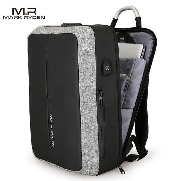 Mark Ryden Cosmo Series Anti-Theft Water-Resistant 15.6 Inch Laptop Dual Backpack & Messenger Bag With USB Charging Port - Trendy Staples