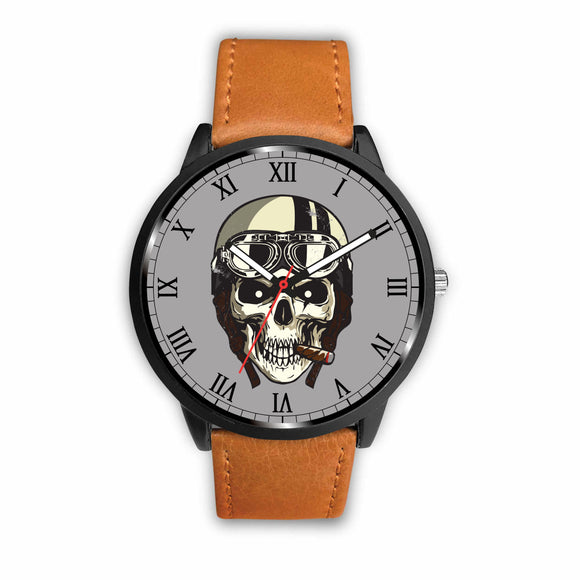 Biker Speed Junkie Fast N Loud Skull Cigar Watch - Trendy Staples