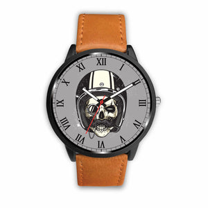 Biker Speed Junkie Fast N Loud Skull Handlebar Moustache Watch - Trendy Staples